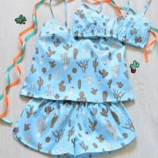 Пижама хлопковая Кактусы