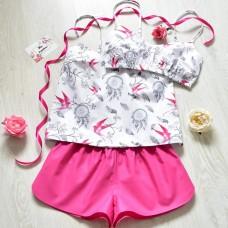 Пижама хлопковая Ласточки