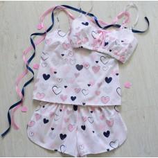 Пижама хлопковая Валентинки