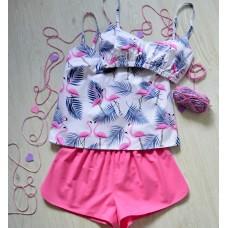 Пижама хлопковая Фламинго