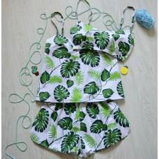 Пижама хлопковая Листья