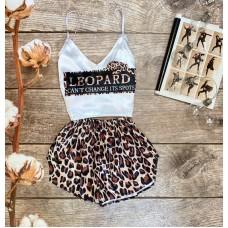 Шелковая пижама leopard