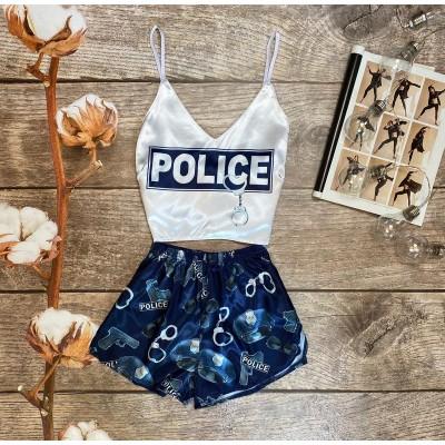 Шелковая пижама police