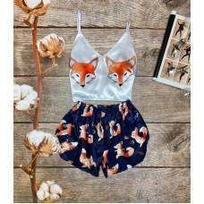 Шелковая пижама fox