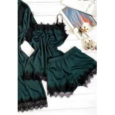 Женская шелковая пижама бутылка шорты и майка
