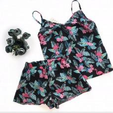 Хлопковая пижама фламинго