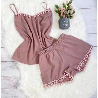Пижама шорты и майка пыльная роза