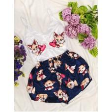 Шелковая пижама sweet fox