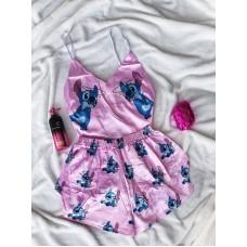 Шелковая пижама stitch