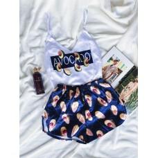 Шелковая пижама avocado синяя