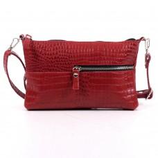Кожаная женская сумка Мира кайман красная