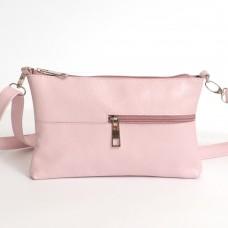 Кожаная женская сумка Мира розовая