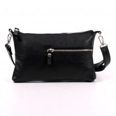 Кожаная женская сумка Мира черная