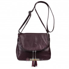 Кожаная женская сумка Марсель виноградная