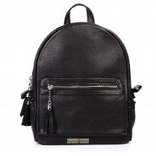 Кожаный женский рюкзак Meri черный