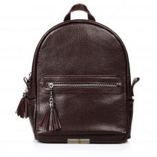 Кожаный женский рюкзак Meri шоколадный