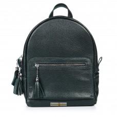 Кожаный женский рюкзак Meri зеленый