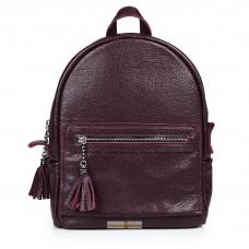 Кожаный женский рюкзак Meri виноградный