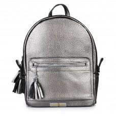 Кожаный женский рюкзак Meri никель