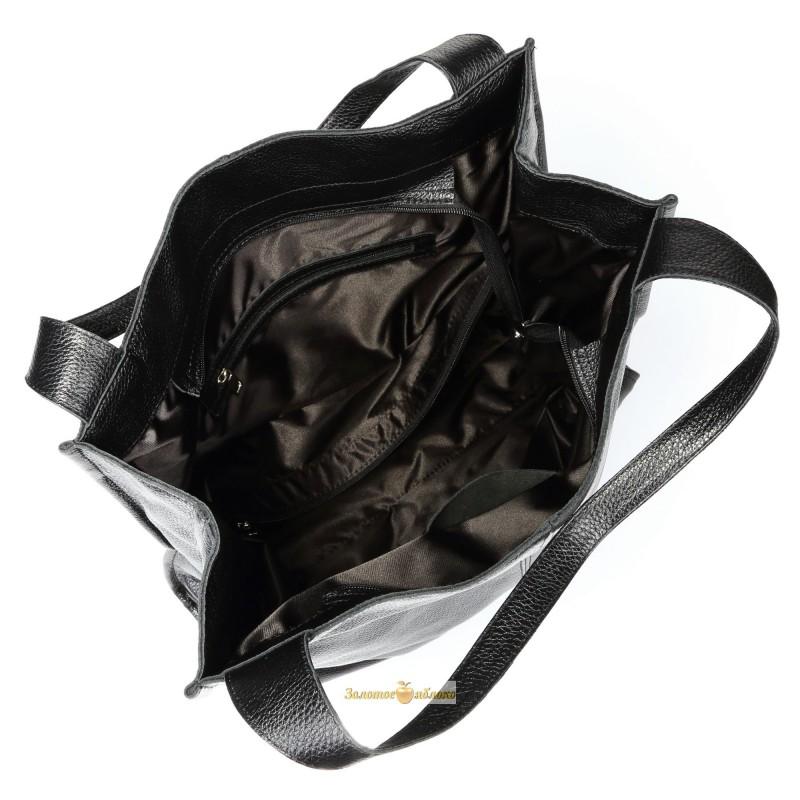 824f537d9b98 Кожаная женская сумка Mesho черная производства Украины
