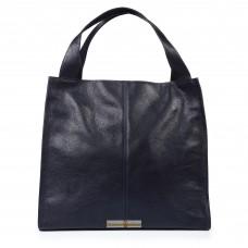 Кожаная женская сумка Mesho синяя