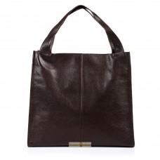 Кожаная женская сумка Mesho шоколадная