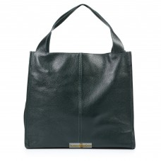 Кожаная женская сумка Mesho зеленая