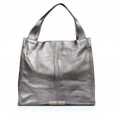 Кожаная женская сумка Mesho никель