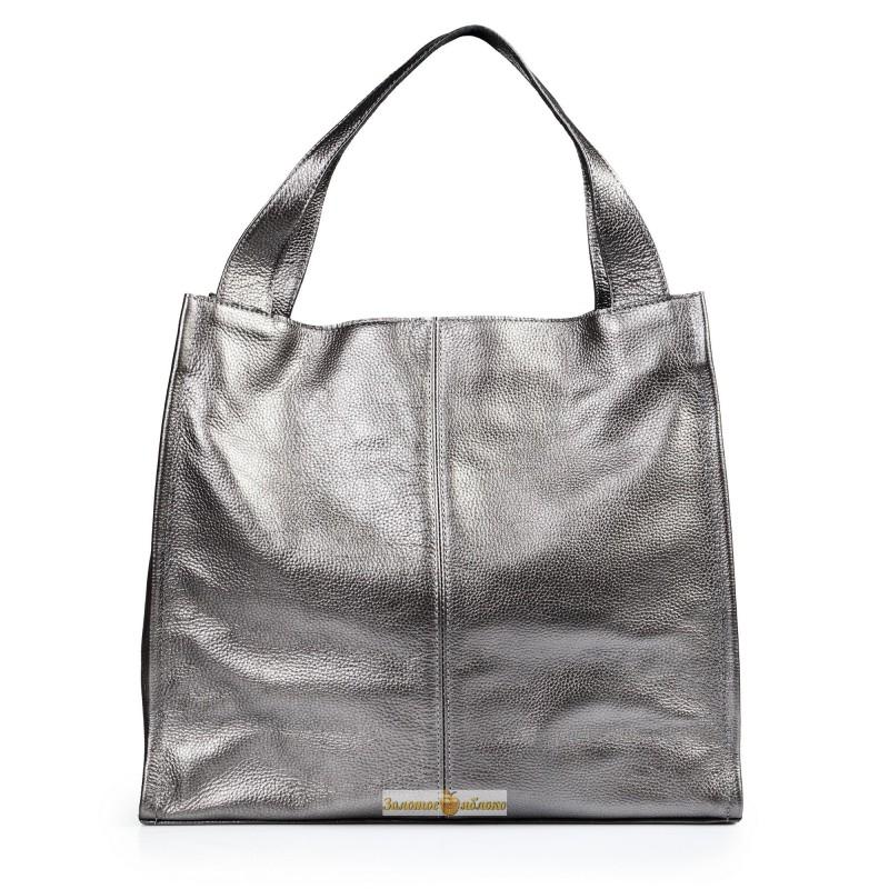 01c2bea97b50 Кожаная женская сумка Mesho никель производства Украины