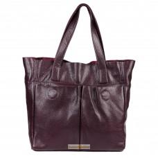 Кожаная женская сумка Палермо виноградная