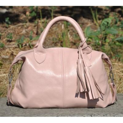 Кожаная женская сумка Барселона пудра