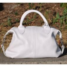 Кожаная женская сумка Барселона белая