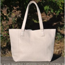 Кожаная женская сумка Флоренция бежевая