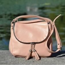 Кожаная женская сумка Марсель пудра