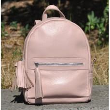 Кожаный женский рюкзак Meri пудра