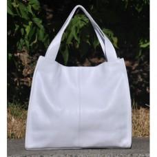 Кожаная женская сумка Mesho белая