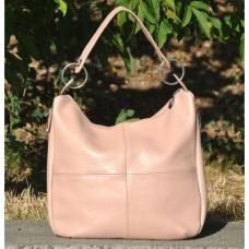 Кожаная женская сумка Неаполь бежевая