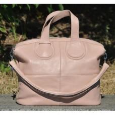 Кожаная женская сумка Nightinghale пудра