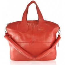 Кожаная женская сумка Nightinghale красная