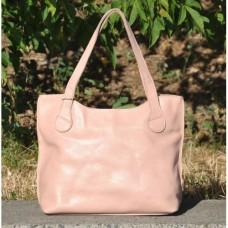 Кожаная женская сумка Венеция пудра