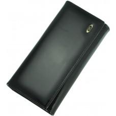Кожаный женский кошелек BC34 BLACK