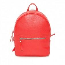 Кожаный женский рюкзак Meri красный