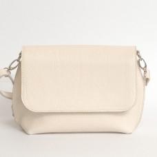 Кожаная женская сумка Ева бежевая