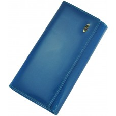 Кожаный женский кошелек BC34 Blue