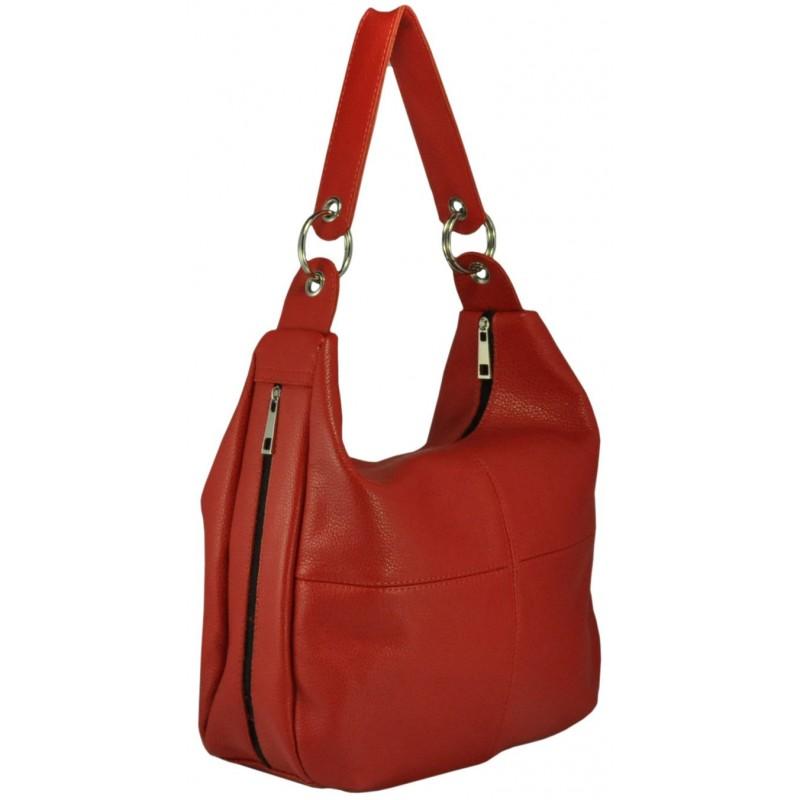 153a7af22c7c Кожаная женская сумка Неаполь красная производства Украины