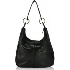 Кожаная женская сумка Неаполь черная