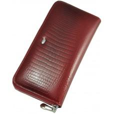 Кожаный женский кошелек AE201 Red красный