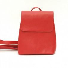 Кожаный женский рюкзак Лейпциг красный