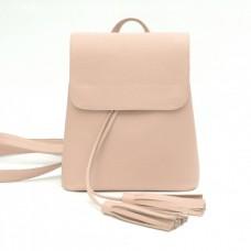 Кожаный женский рюкзак Лейпциг пудра