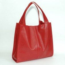 Кожаная женская сумка Mesho красная